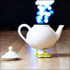I love teapots & egg cups with personality.