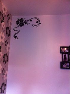 Forget about wall stickers and try drawing something yourself with permanent marker