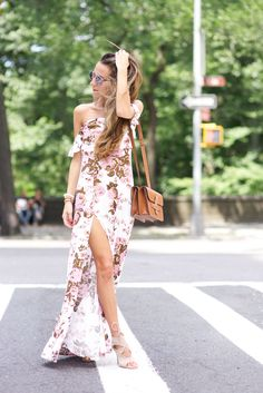 front slit maxi dress in a gorgeous floral print.