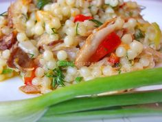 Couscous Recipes, Healthy Salad Recipes, Pasta Salad, Carne, Risotto, Sweet Home, Ethnic Recipes, Food, Crab Pasta Salad