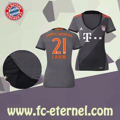 fc-eternel:Maillot Bayern Munich Femme (LAHM 21) Exterieur 2016/2017 Thai Edition Maillot Bayern Munich, Lewandowski, Football, Wetsuit, Sports, Baby Born, Woman, Soccer, Scuba Wetsuit