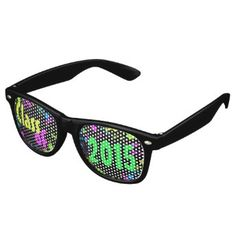 Class of 2015 Seniors Neon Paint Splash Graduation Party Sunglasses