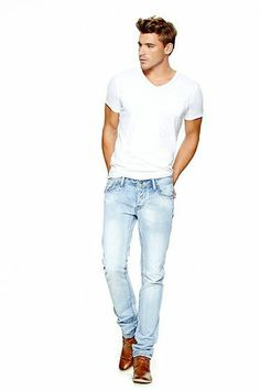 Urban Outfitters White Tee, Lucky Faded White Jeans