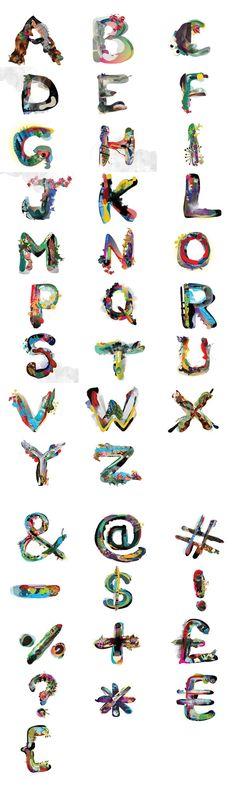 Mixel Typography on Behance #typography #type