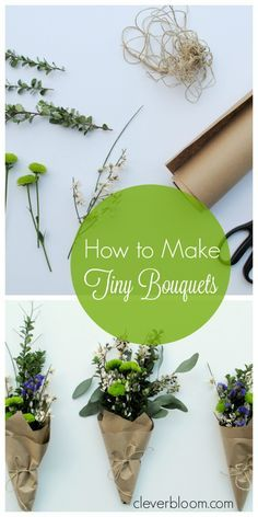 Learn how to make Tiny Bouquets for any occasion. Whether it's Valentine's Day, Mother's Day, A Birthday, or A Wedding these tiny bouquets are sure to brighten anyone's day!