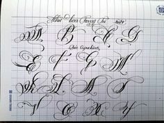 Calligraphy Fonts Alphabet, Tattoo Fonts Alphabet, Copperplate Calligraphy, Tattoo Lettering Fonts, Hand Lettering Alphabet, Doodle Lettering, Creative Lettering, Lettering Styles, Penmanship