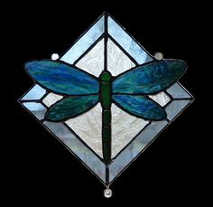 Affordable Stained Glass!!!!!  Dragonfly stained glass