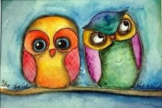 cute, colorful owls by oldrose