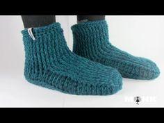 Richtig warm und mit dicker Sohle...Gibt es jetzt auch in englisch ;O) Hüttenschuhe häkeln  / Gammlo´s Teil 1 crochet slippers