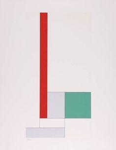 Y= - x2 + bx + c rouge-vert - Georges Vantongerloo