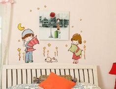 naklejki ścienne, naklejki na ścianę, naklejki dekoracyjne, naklejka, dzieci, dziecko, chłopczyk, dziewczynka, piesek