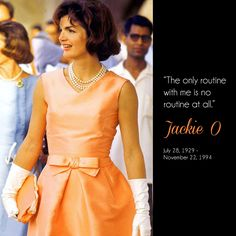 Jackie O's style and elegance still influences and inspires us today. #styleicon #jackieo