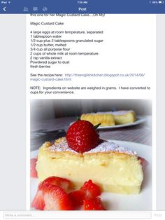 Magic Cudtard Cake