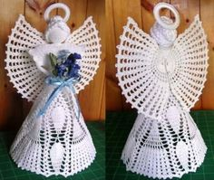 Christmas Angel Decorations, Christmas Angel Ornaments, Etsy Christmas, Crochet Angel Pattern, Vintage Crochet Patterns, Crochet Angels, Free Crochet, Knit Crochet, Crochet Hats