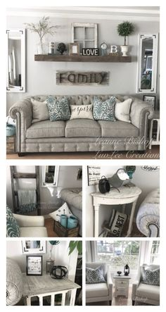 My Farmhouse Style Living Room! Be Sure To Check Out My Facebook Page:  LuvLee