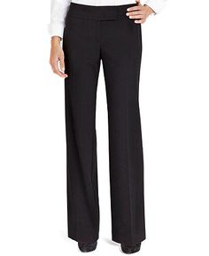 Style Pants, Tab Closure Flat Front Stretch Trouser