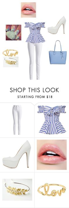 """""""Blue Cutie"""" by alaynamccasland on Polyvore featuring Barbour International, Caroline Constas, Qupid, Sydney Evan and Kate Spade"""