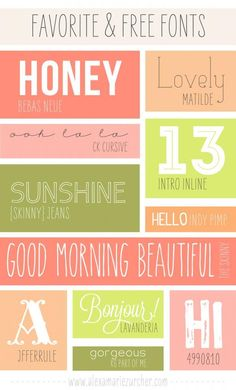 He and I   lifestyle blog: favorite free fonts!  ~~ {11 free fonts w/ links} ~~