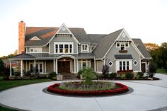 I love the mix of roofing materials - Winning Home Show Home - traditional - exterior - indianapolis - Heartwood Custom Homes Inc. Custom Home Builders, Custom Homes, House Builders, Exterior Tradicional, Home Inc, Traditional Exterior, Traditional House, Traditional Ideas, House Goals