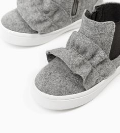 RUFFLED HIGH TOP SNEAKERS-SHOES-BABY GIRL | 3 months - 4 years-KIDS | ZARA United States