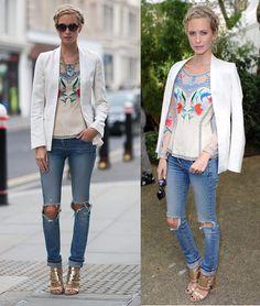 Jeans rasgado..luv u