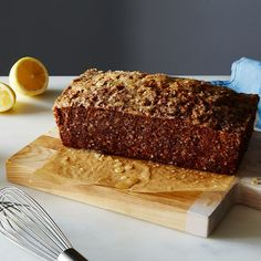 ... olive oil zucchini bread with poppy seeds and lemon crunch glaze