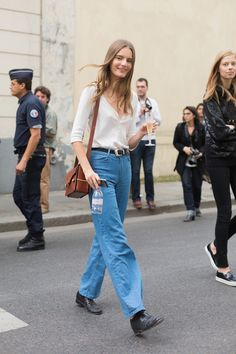 Tilda Lindstam Off Duty Street Style Inspiration Denim Fashion, Love Fashion, Fashion Models, Vintage Fashion, Fashion Outfits, Chic Outfits, High Street Fashion, Fashion Week Paris, Model Street Style