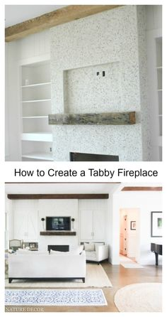 how to add tabby concrete to your home to create a coastal charm.Very popular here in coastal South Carolina. Here's some more history about tabby concrete. Concrete Fireplace, Fireplace Design, Fireplace Mantel, Fireplaces, Decorating Blogs, Decorating Your Home, Diy Home Decor, Room Decor, Home Decor Inspiration