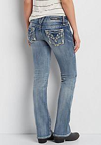 Vigoss® bootcut jeans in medium wash - alternate image
