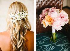 Flowers for Wedding Hair. Hawaii Wedding. Josh Elliott Photography.