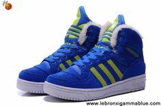 Fashion Adidas X Jeremy Scott Big Tongue Anti Fur Winter Shoes Blue Shoes Shop