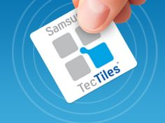 """TecTiles - Inexpensive NFC tags that phone owners can use to automate various tasks. Via a free application, customers will be able to assign various commands to one of the stickers. A tag outside a conference room could be set to silence phones or to join the Wi-Fi network. Businesses could use a tag to allow customers to check in on Foursquare, or """"Like"""" the company on Facebook."""