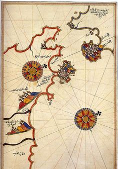 Map of the Strait of Gilbraltar by Piri Reis [1521]