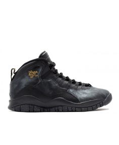 Air Jordan Retro 10 Nyc Black Black Drk Grey Mtllc Gld 310805 012