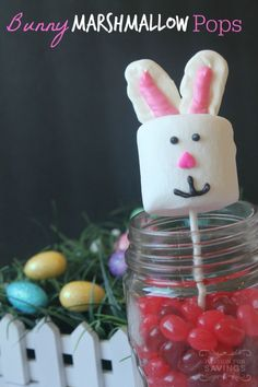 If you are looking for a fun Easter Treat to make with your kids, be sure to check out these Easter Marshmallow Pops!