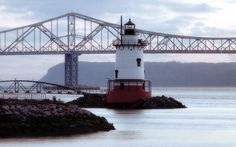 Tarrytown Lighthouse in northern Westchester County, New York.