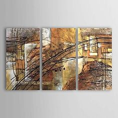 Hand-painted+Abstract+Oil+Painting+with+Stretched+Frame+-+Set+of+3+–+USD+$+129.99