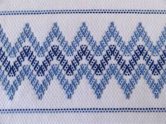 Tea Towel Dish Towel Swedish Weaving Blue by SnowboundMe on Etsy, 18.00