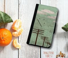 Birds On A Wire Wallet Phone Case. iPhone 4//4s, 5c or 5//5s. Samsung Galaxy S3 or S4.