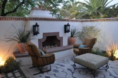 Architectural elements of almost every Spanish revival style home ...