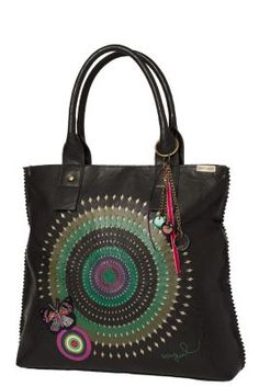 Bandolera New Trokel Desigual women's bag from the Cool line. Large shoulder bag, with the touch of our new Rainbow collection: a butterfly patch.