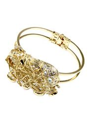 Gold-Plated Elephant Cuff