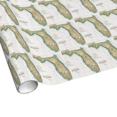 Vintage Map of Florida (1848) Gift Wrap Paper $16.95