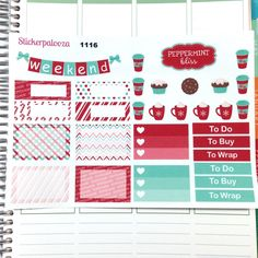 Christmas Stickers, December Planner Stickers, Holiday Planner Stickers, Erin Condren Planner Stickers, Repositional Matte Stickers 1116 by ShopStickerpalooza on Etsy https://www.etsy.com/listing/249075426/christmas-stickers-december-planner
