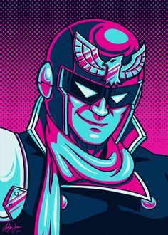Captain Falcon Palette Portrait by Red-Flare.deviantart.com on @deviantART #Falcon #Nintendo