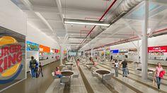 Diseño de feria de comida. Centro Comercial Ciudad Premium Maracay Arquitecto: Waldino Arriaga.