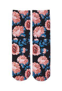 Floral Printed Socks   FOREVER 21 - 2000058400