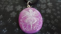 Pretty Purple Ballet Dancing Fairy Pendant by Alienstoatdesigns