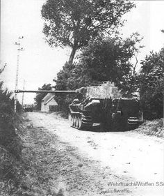 """Panzer V """"Panther"""" from the 12th SS Panzer Division """"Hitlerjugend"""" in Normandy ,June 1944"""