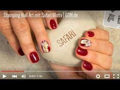 #Stamping Nail Art mit Safari Motiv by www.gdn.de #jolifin #nails #nailart #nailtrends